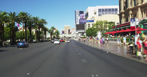 Driving on Las Vegas BLVD. in Slow Motion Footage