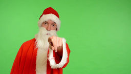 santa claus - green screen - studio - Santa Claus chooses people and invites the Footage