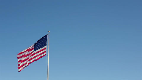 American Flag Windy Day Footage