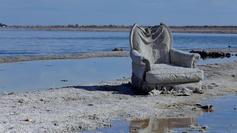 Chair On The Beach Footage