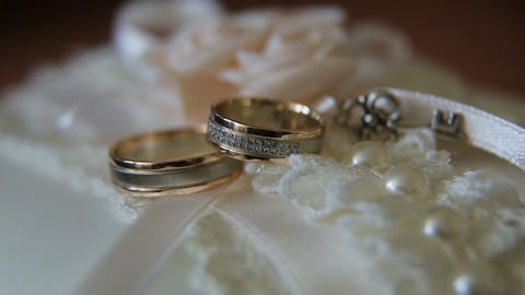 Two wedding rings Footage