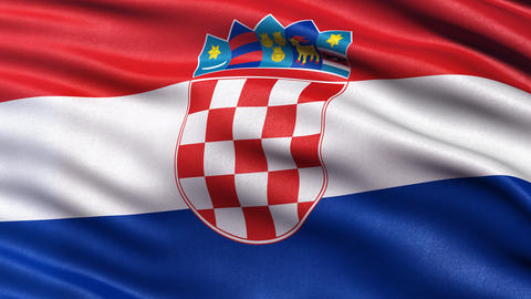 4K Croatia flag seamless loop Ultra-HD Animation