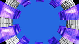 Circular frame chrystal purple white Animation