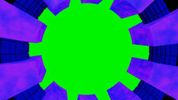 Circular frame purple blue on green screen Animation
