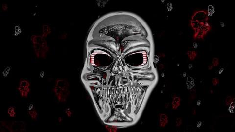 Skull masks Parade 4K Mix CG動画素材