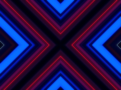 Abstract cross line laser colorful background Foto