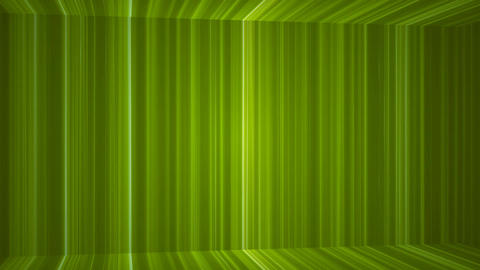 Broadcast Vertical Hi-Tech Lines Passage, Green, Abstract, Loopable, 4K CG動画素材