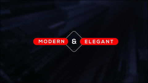 Modern Titles After Effectsテンプレート