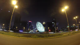 Road night time lapse Image