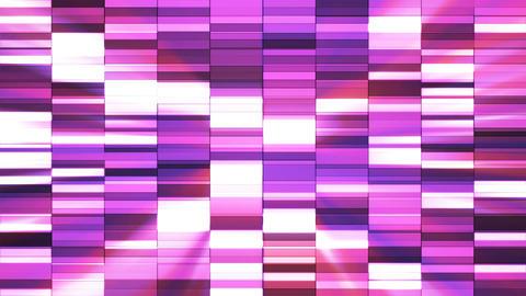 Twinkling Horizontal Small Squared Hi-Tech Bars, Pink, Abstract, Loopable, 4K Animation