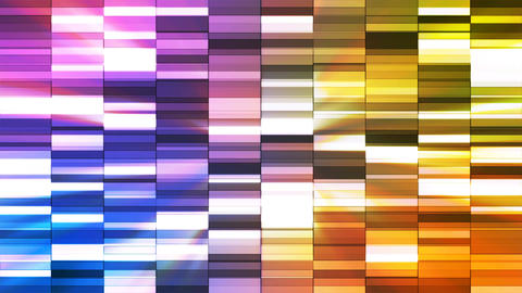 Twinkling Horizontal Small Squared Hi-Tech Bars, Multi Color, Abstract, Animation