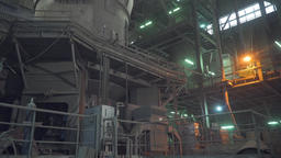 Cement production factory, factory inside Footage