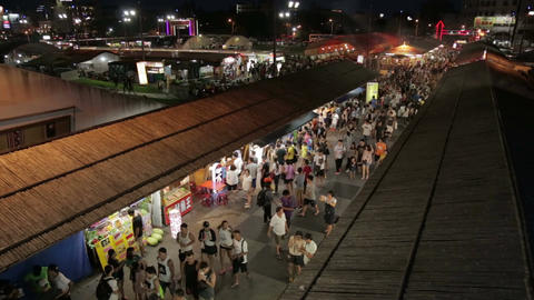 Hualien night market 1 Footage