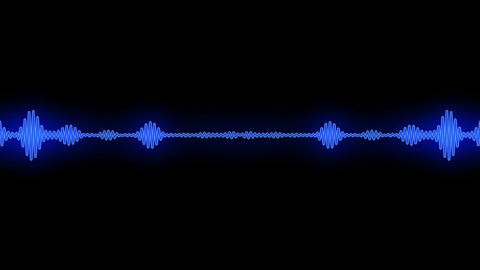 Waveform and Mirror Blue Animation