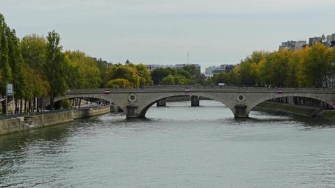 Bridges over the Seine river in Paris, France Footage