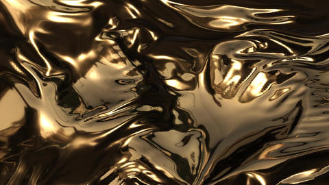 Animation of gold waves CG動画