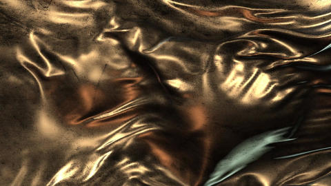 Animation grunge gold cloth CG動画