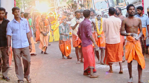 Spiritual Practicioners with Traditional Pierces on Faces Walk Footage