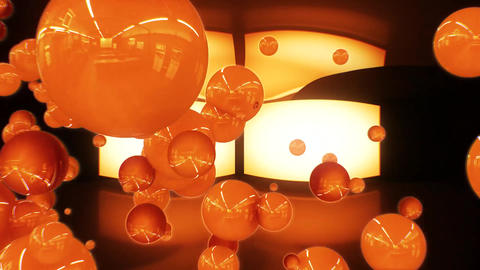 3D Orange Glossy Spheres Intro Logo Animation Background Backdrop Image