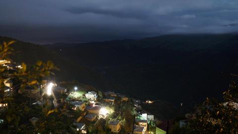 Timelapse in mountain village ビデオ