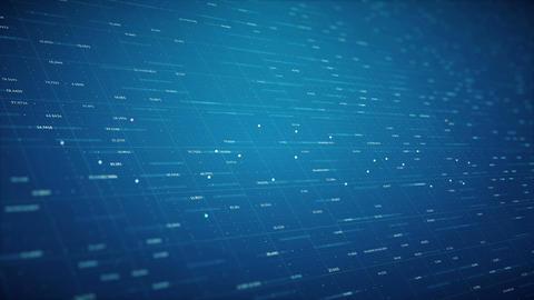 Blue Technological Random Looped Background Animation