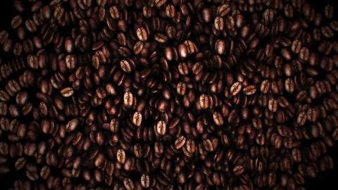 Brown coffee beans Footage