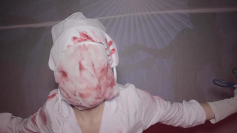Nurse Silent Hill with a knife Footage