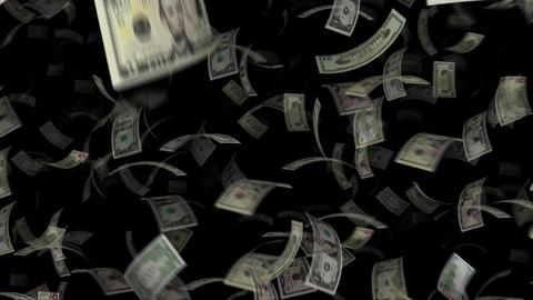 Flying dollar bill CG動画素材