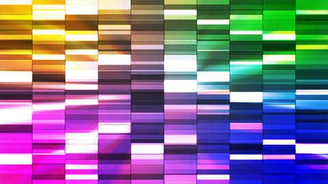 Twinkling Horizontal Small Squared Hi-Tech Bars, Multi Color, Abstract, CG動画素材