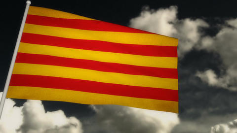Flag Catalonia 02 Animation