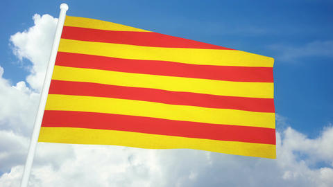 Flag Catalonia 03 Animation
