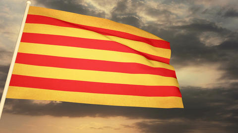 Flag Catalonia 04 Animation