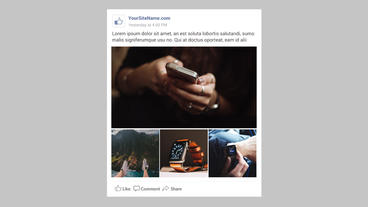 Facebook feed constructor Premiere Proテンプレート