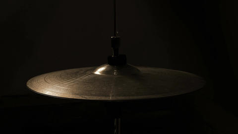 Striking with a stick on a hi-hat Footage