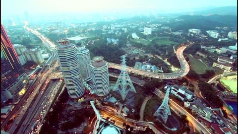 Big city view from skyscraper ビデオ