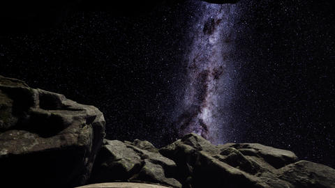 4K hyperlapse astrophotography star trails over sandstone canyon walls Footage
