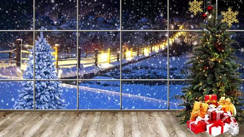 Christmas-15 Broadcast TV Studio Green Screen Background Loopable ライブ動画