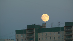 Moon Rising Over City Time Lapse Footage