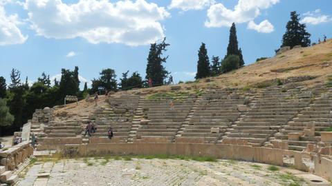 Amphitheatre in Acropolis, Athens, Greece, 4k Footage
