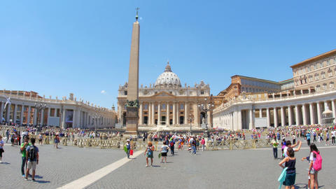 VATICAN CITY, AUGUST 2015: people visiting day time Footage