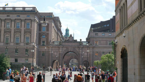 STOCKHOLM - SWEDEN, AUGUST 2015: old city view Footage