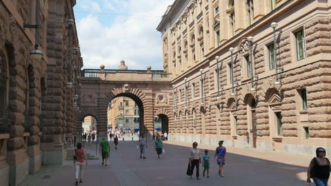STOCKHOLM - SWEDEN, AUGUST 2015: old city and parliament view Footage