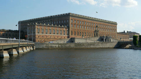 Stockholm Old City, Parliament View, Sweeden stock footage
