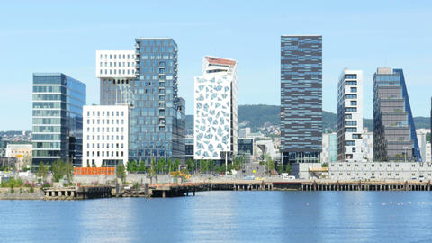 barcode project high-rise apartments of oslo norway Footage