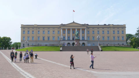 oslo royal palace, norway Footage