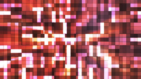 Broadcast Twinkling Squared Hi-Tech Blocks, Orange, Abstract, Loopable, 4K CG動画素材