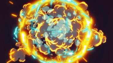 Cartoon Explosion Plantilla de After Effects