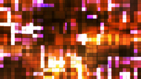 Broadcast Twinkling Squared Hi-Tech Blocks, Golden, Abstract, Loopable, 4K Animation