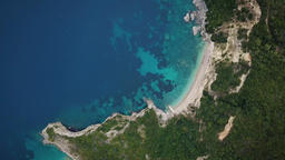 Flight over of coastline at Corfu island in Greece Footage