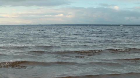 seascape waves run Footage